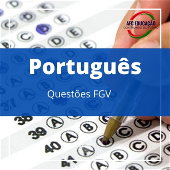 Curso Português - Questões FGV - Prof. Fernando Figueiredo
